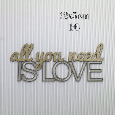 All you need is love évidé