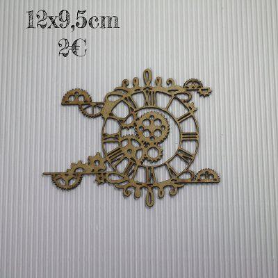 Horloge arabesques horizontale