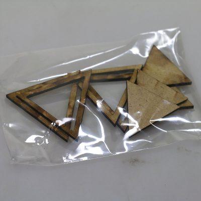 Triangle évidés et pleins