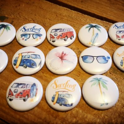 Collection complète badges surfing