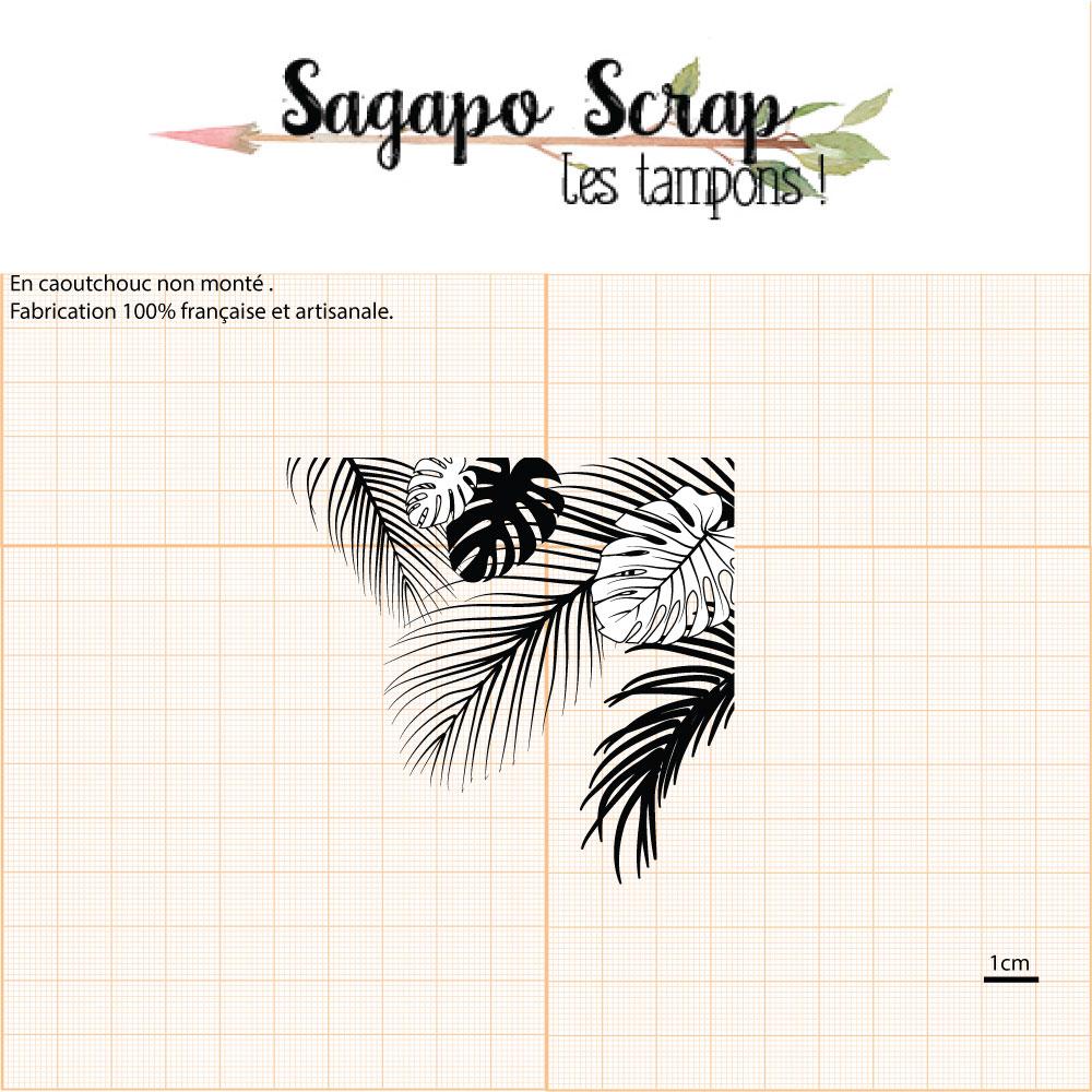 tampon feuilles tropiques