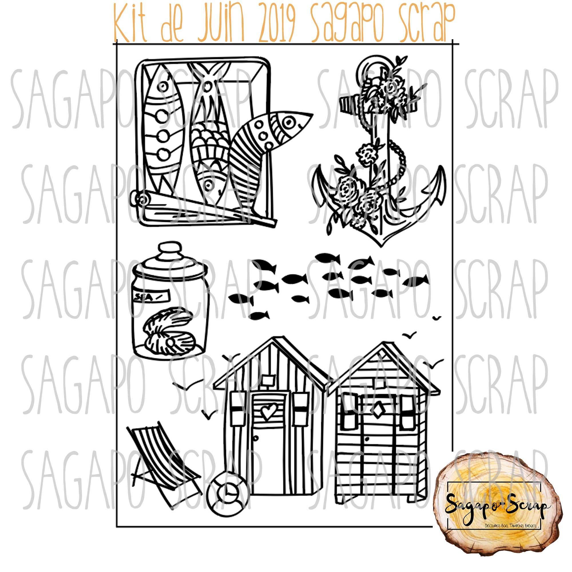 planche tampons thème marin Sagapo Scrap