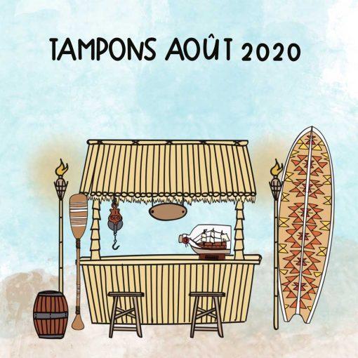 Planche de tampons de Aout 2020