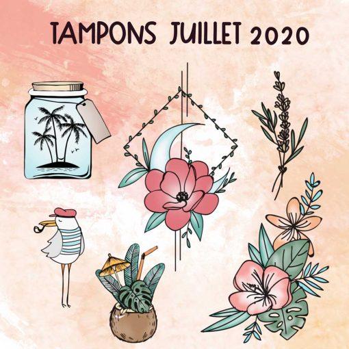 Planche de tampons de Juillet 2020