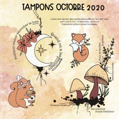 Planche de tampons de Octobre 2020