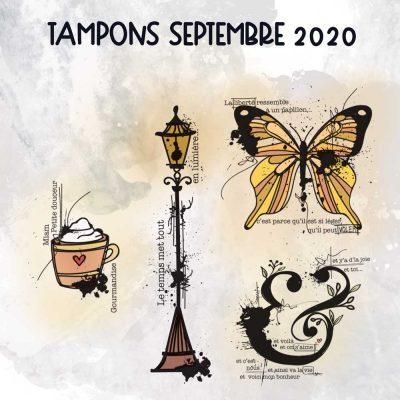 Planche de tampons de Septembre 2020
