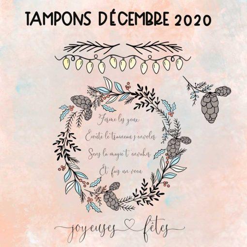 Planche de tampons de Décembre 2020 – Joyeuses fêtes