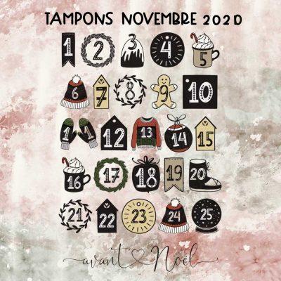 Planche de tampons de Novembre 2020 – Chiffres calendrier de l'avent