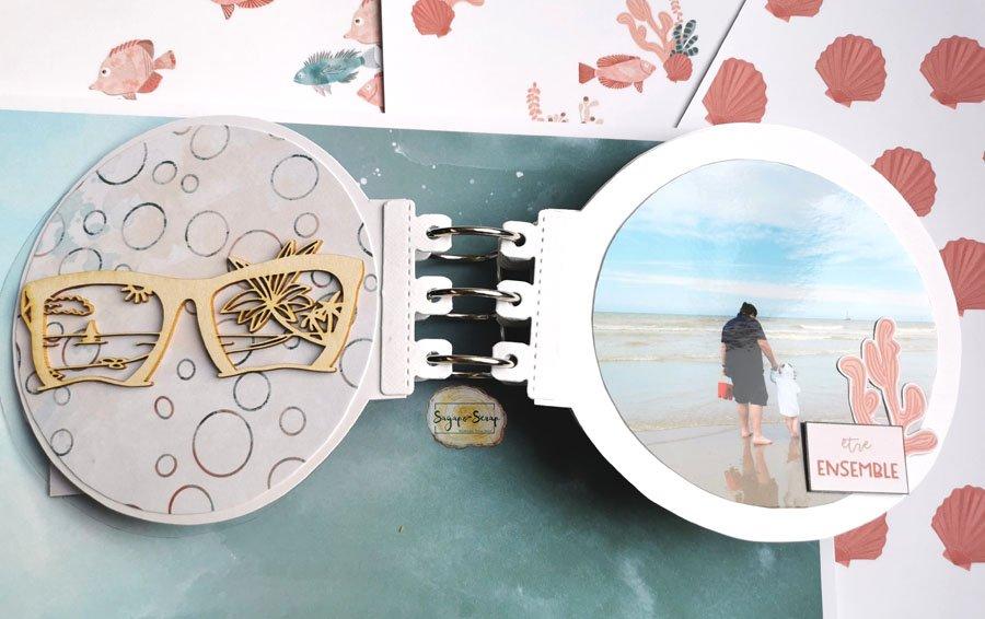 mini album rond sable et soleil lunette