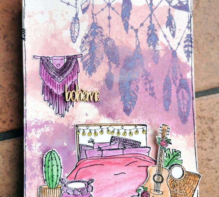 Art journal scène de vie par Petitelilie04