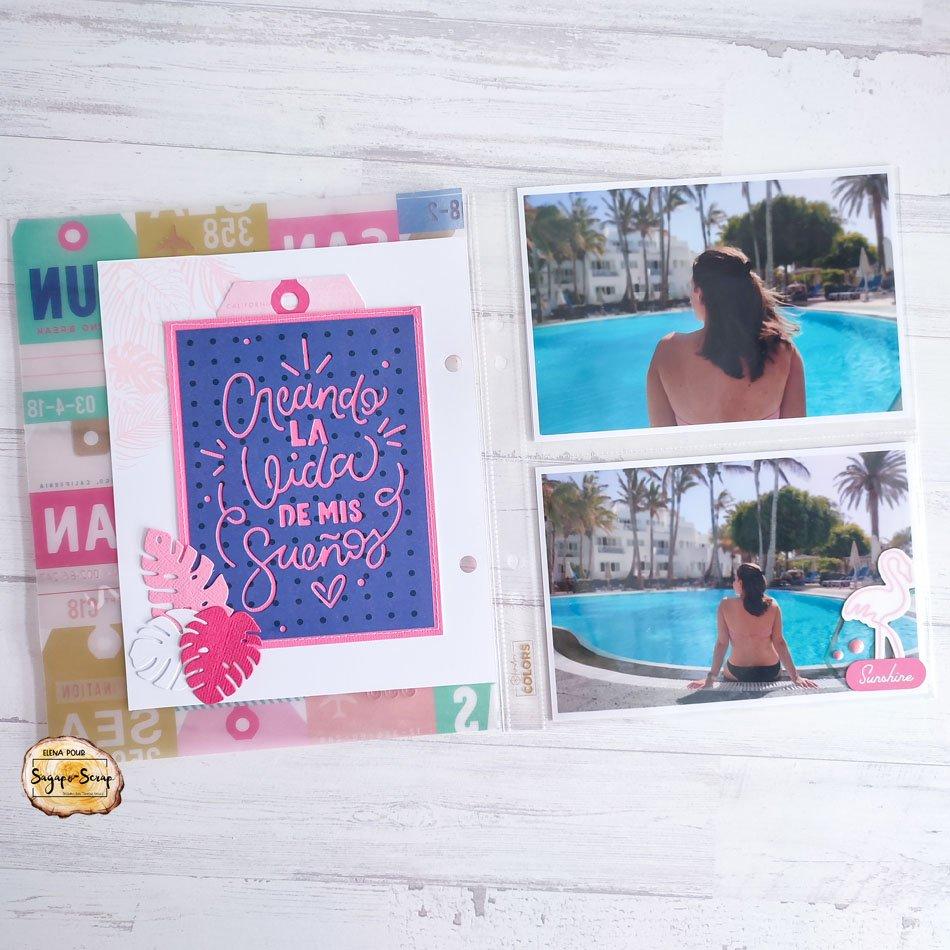 project life vacances feuilles palmier Sagapo Scrap Elena