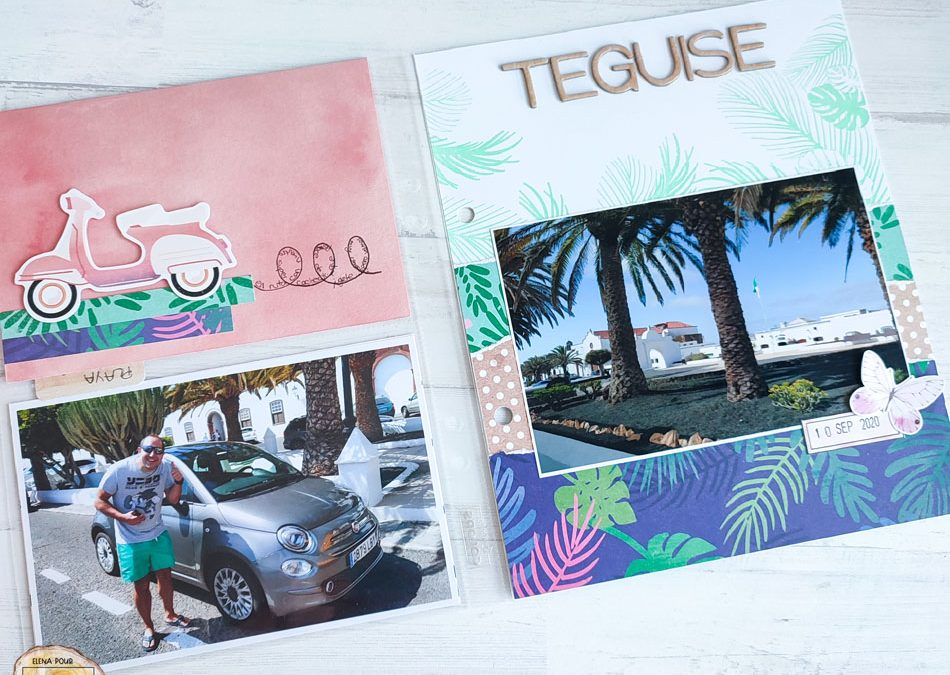 Project Life vacances aux tropiques par Elena
