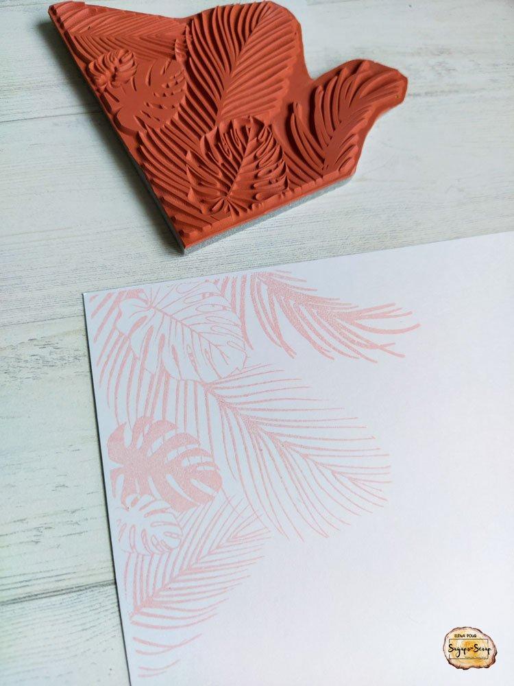 project life vacances tamponnage feuilles palmier Sagapo Scrap Elena