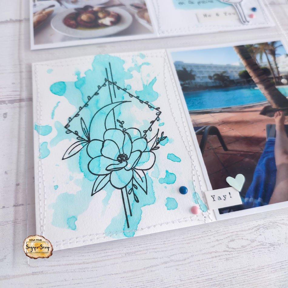 project life vacances tropiques tampon Sagapo Scrap Elena