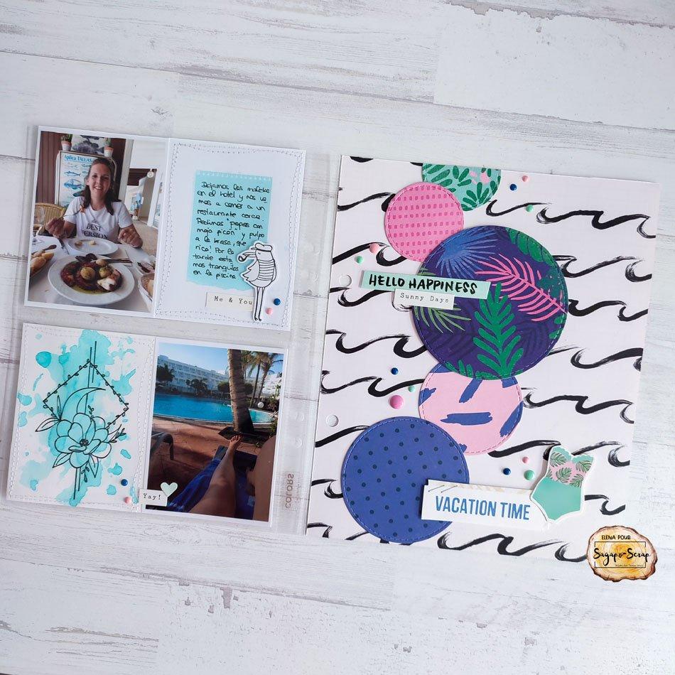 project life vacances tropiques Sagapo Scrap Elena
