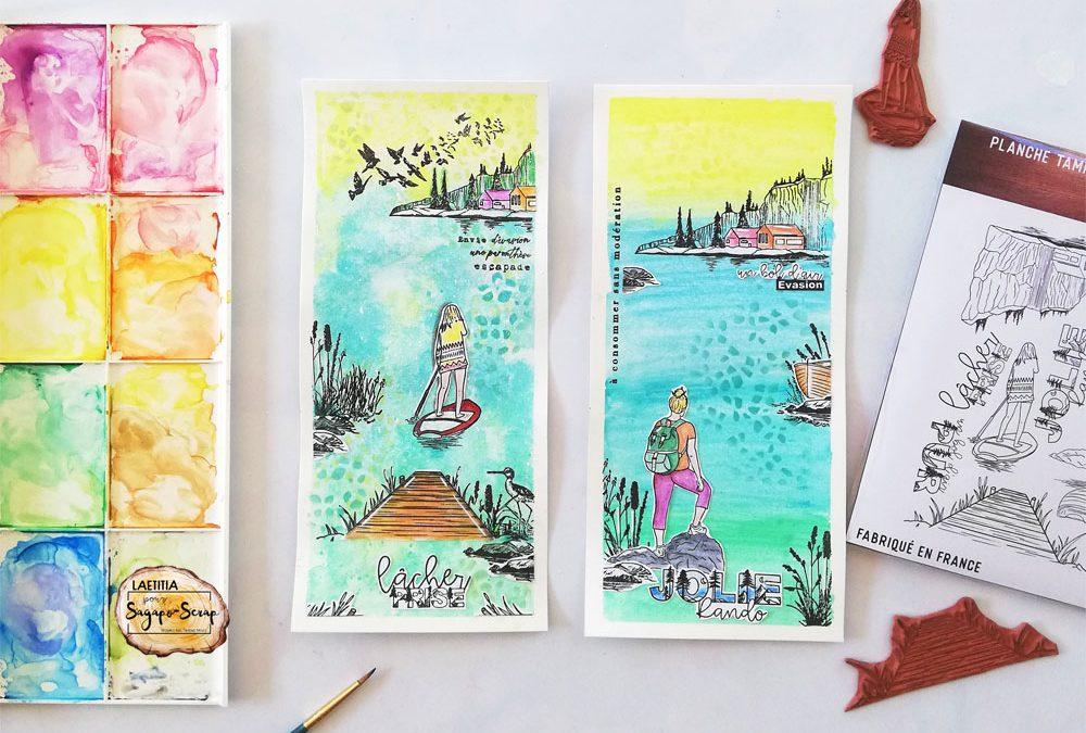 Slimeline carte thème randonnée par Triniti