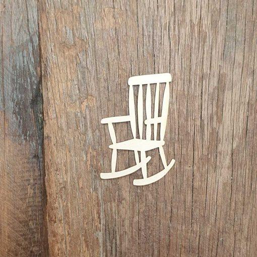 Carton-bois-chaise-à-bascule-détente