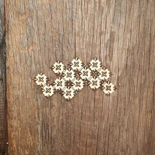 Carton-bois-fleurs-mosaïque-texture-orientale