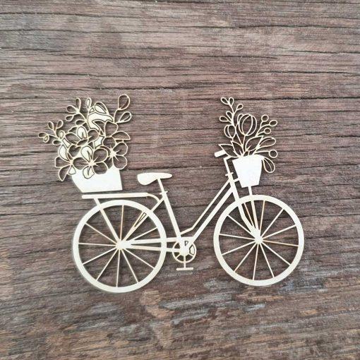 Carton-bois-vélo-avec-panier-de-fleur