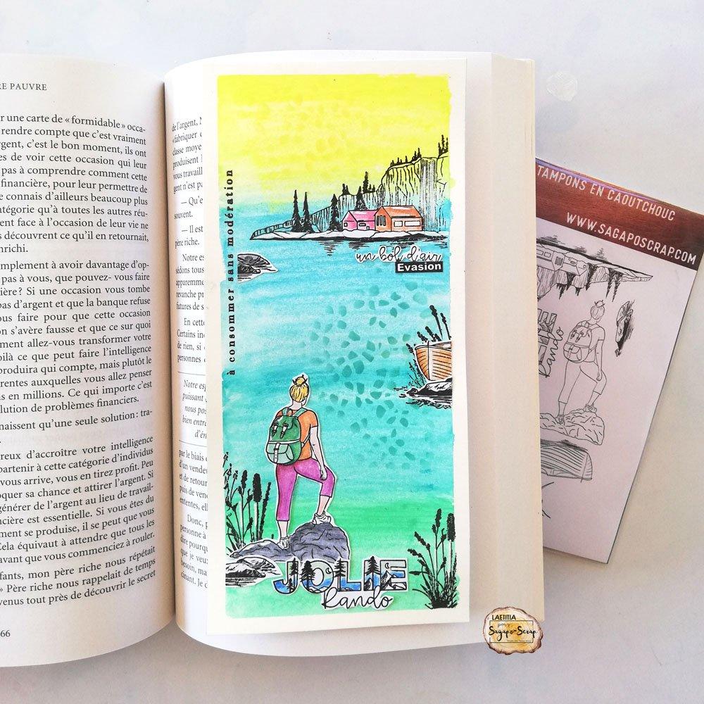 slimeline carte jolie randonnée scrap carte