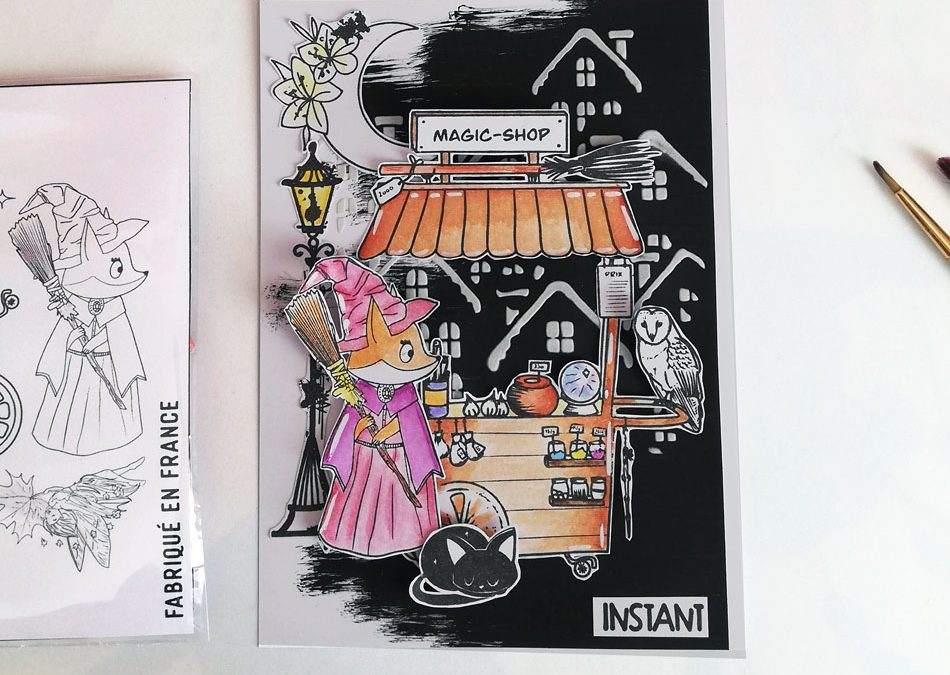 Carte RENARDE magie par Triniti